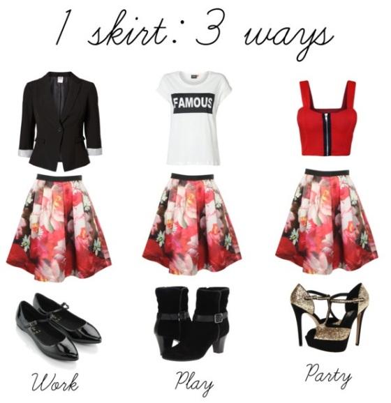 1 skirt 3 ways