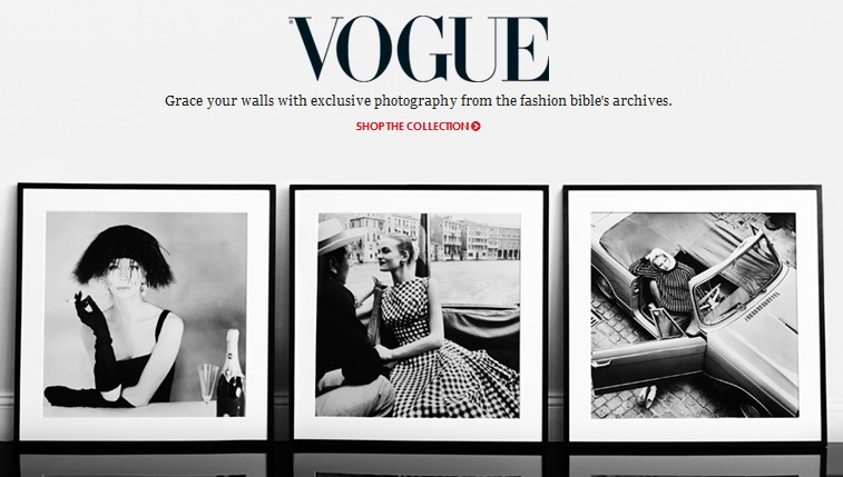 Were delighted that a selection of archive images is now available for people to hang on their walls said vogue editor alexandra shulman